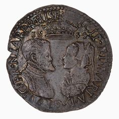 1554 shilling depicting Mary I and Philip of Spain