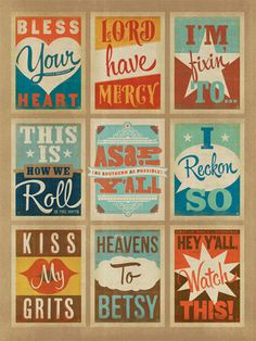southern sayings print.