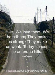 #quotes #running #hills