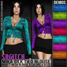 Sn@tch Mika Silk Blouse Vendor Ad LG | Flickr - Photo Sharing!