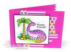 Sandy Allnock - Lawn Fawn Dino Thanks