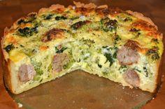 GF Broccoli & Spinach Meatball Pie