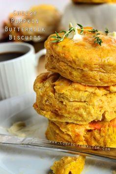 Cheesy Pumpkin Buttermilk Biscuits Recipe