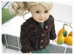 Autumn Dress and Hand Knit Sweater for Lanie by BonJeanCreations, $32.49