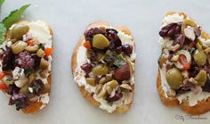 Herbed Olive Tapenade With Goat Cheese Bruschetta
