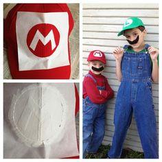 DIY Mario and Luigi Costumes by Maker Mama, via Flickr