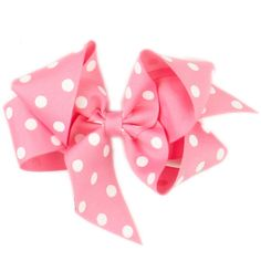 Dotty Pink Bow Hair Clippie.
