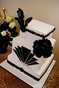 Art Deco Sheet Cake : Gatsby style cakes on Pinterest Art Deco Cake, Gatsby ...