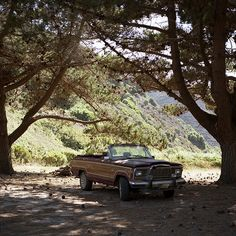 Reminds me of my friend's bronco with the top cut off - lots of fun that summer :D  Jeep Wagoneer