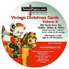 89 Christmas Images on CD Christmas Cards and by TwistedPapers, $9.95