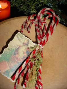 Pipe cleaner candy canes...Simple but so nice!! cleaner candi, candi cane, candy canes, pipe cleaner