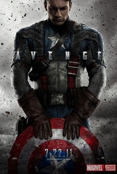 Captain America. 2011  Also, I want this poster in my room.    http://marvel.com/images/gallery/story/15133/images_from_first_look_captain_america_movie_poster/image/856669
