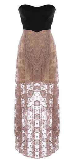 love dresses with longer lace and shorter skirts below