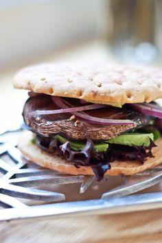 Portobello Mushroom & Avocado Burger