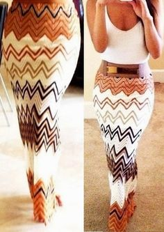 crochet maxi skirt and white top