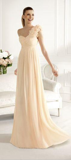 One Shoulder Chiffon Dresses