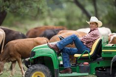 this man! George Strait in a John Deere!! Yes please!!