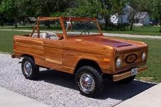 1977 cherry wood Ford Bronco