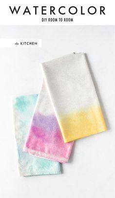 watercolor napkin tutorial