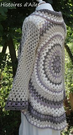 Free Crochet Pattern Circle Sweater : Crochet - Ponchos, Shawls and Vest on Pinterest