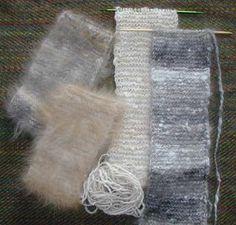 Knit angora headbands