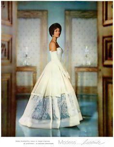 Modess Because - Sanitary Napkins Advertisement - Ebony Magazine, January, 1960 - Featuring early Black supermodel Helen Williams.