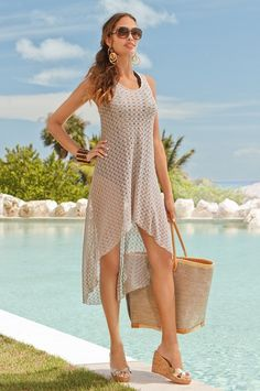 high-lo crochet cover-up