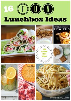16 Fun Lunchbox Ideas from MomAdvice.com.