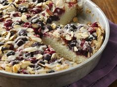 Almond Berry Coffee Cake #GlutenFree