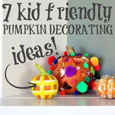 pumpkin decorating, kid