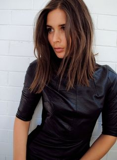 brunette // medium length #hair