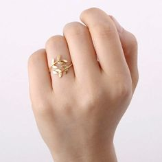 Bay Leaf Ring in gold/silver Adore: Only 15 GBP