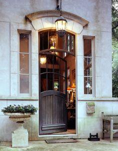Arched door.
