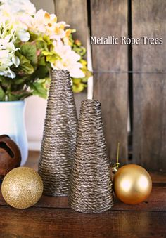 Metallic Rope Trees