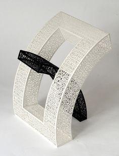 The Curved Book I, cut paper, 2011