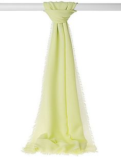 An instant pop of green - a sunny lime woven scarf! #LaneBryant