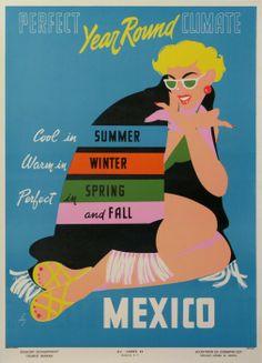 Mexico #tourism #poster (1960s)