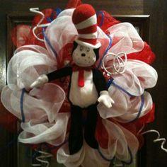 Dr. Seuss Deco Mesh Wreath