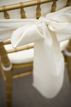 White Chair Sash