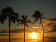 Amazing sunset in Ko Olina, Oahu