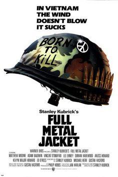 La chaqueta metálica [Full Metal Jacket]. Estados Unidos, 1987. Dir. Stanley Kubrick. Int.: Matthew Modine, Adam Baldwin, Vincent D'Onofrio, Lee Ermey, Dorian Harewood.