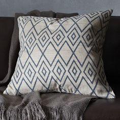 Hand-Blocked Ink Rhombus Pillow Cover #WestElm