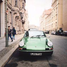 green Porsche / photo by Phil Yisrael #porsche