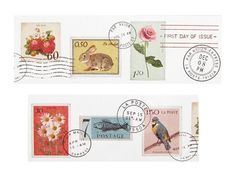 MT Ex postage stamps wide washi tape (1 metre)