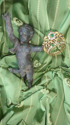 Darling miniature ormolu paste stone crown tiara fashion doll accessory