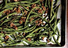 Roasted Green Beans with Walnuts and Rosemary