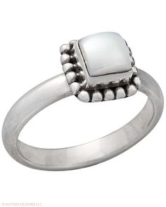 Button Frame Pearl Ring, Rings - Silpada Designs. Order today at www.mysilpada.com/liza.stanton