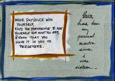 patience with yourself is key to inner happiness