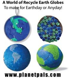 A world of Earth Globes to make! Pinata, egg carton, lids, paper mache, balloons, non toxic clays, coffee filters, crayons, more! #teachers #moms