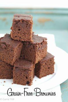 Grain-Free Chocolate Brownies via DeliciouslyOrganic.net #paleo